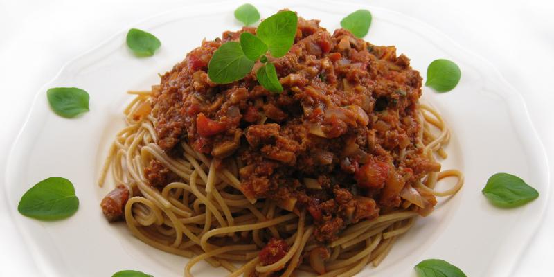 Spaghetti med glødsovs