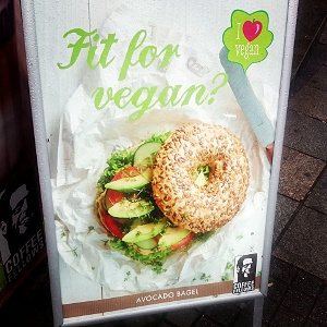 Veganske muligheder på Hamborg Hovedbanegård