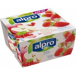 Alpro Bæger Røde Æbler Ribs - Jordbær Rabarber