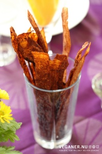 Veganer.nu-Lækon-Læcon-Vegansk-Bacon-Rispapirsbacon-rice-paper-bacon-i-glas