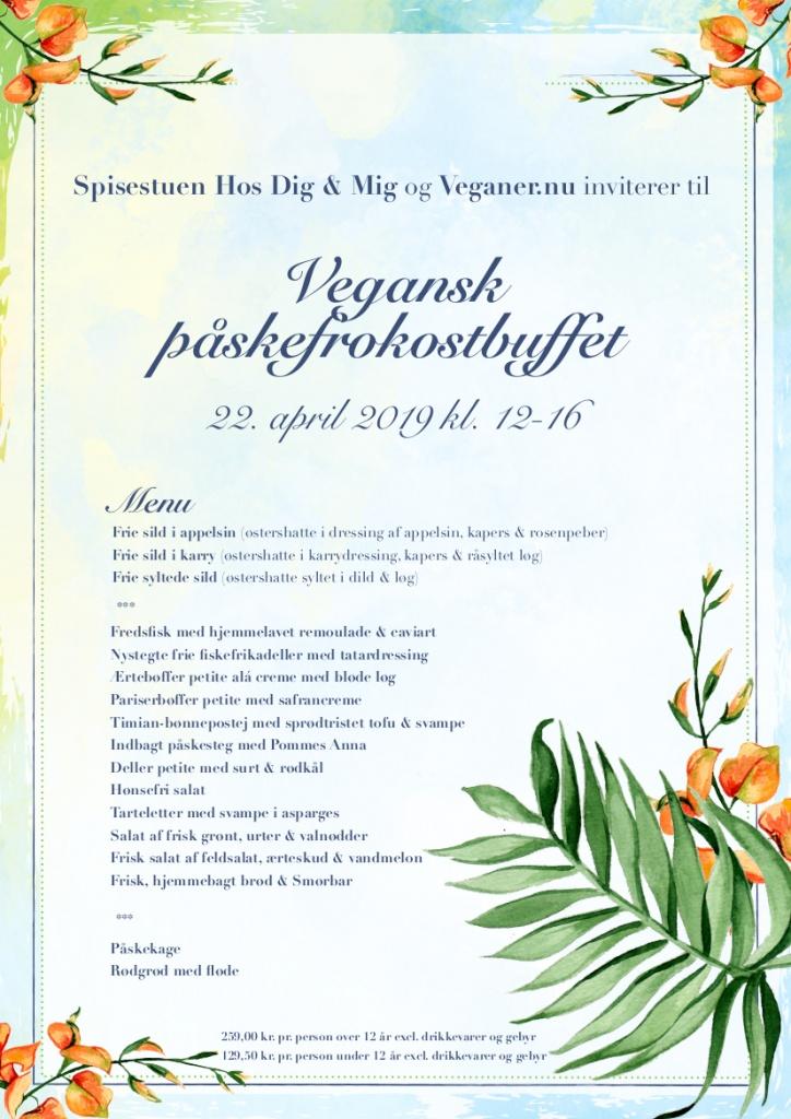 Veganer.nu - Spisestuen Hos Dig og Mig Invitation til Påskefrokostbuffet