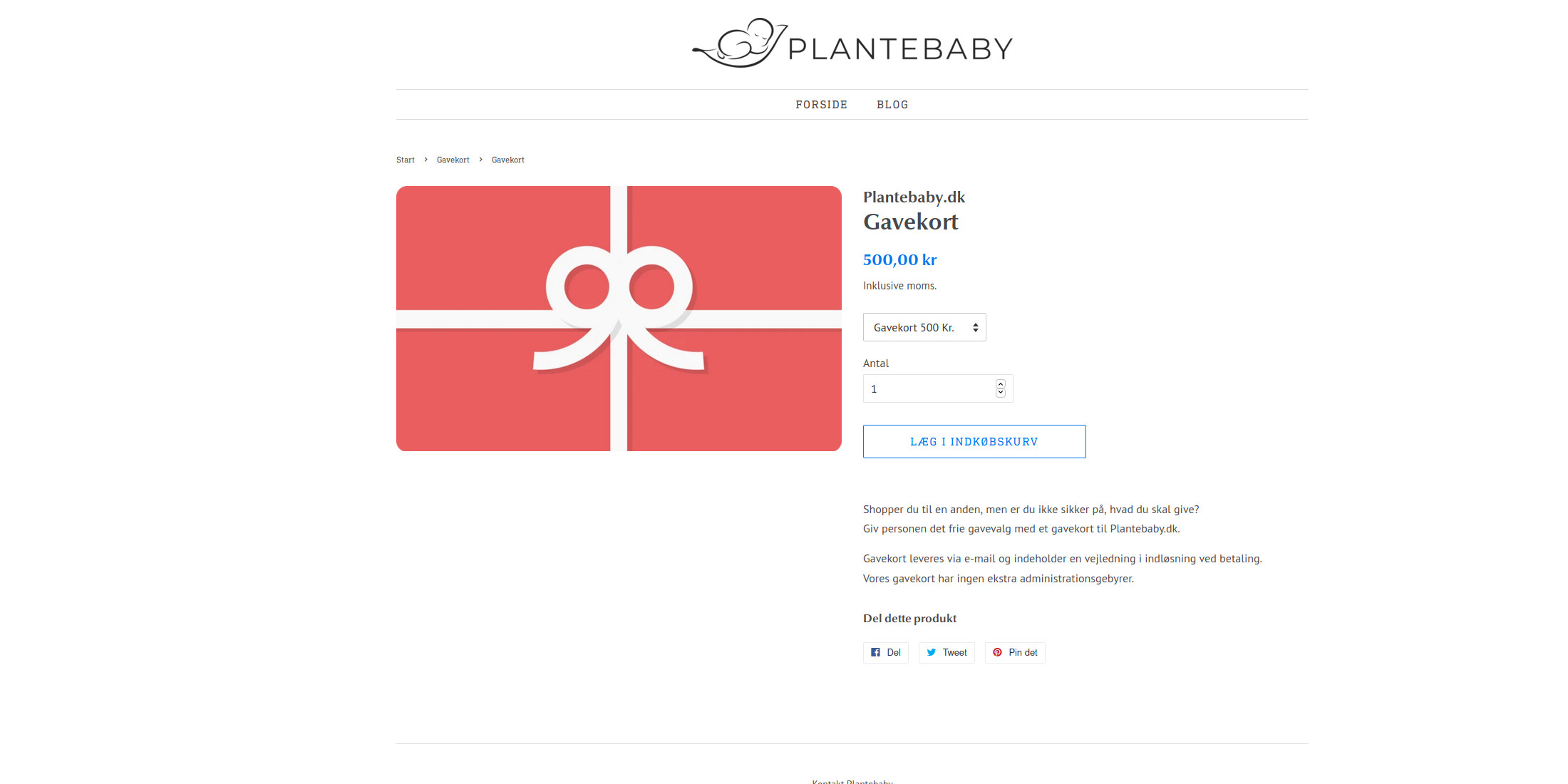 Plantebaby.dk - Gavekort - Veganer.nu